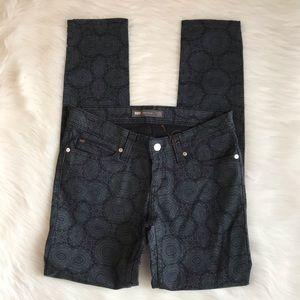 Levi's Paisley Print Low Rise Skinny Jeans